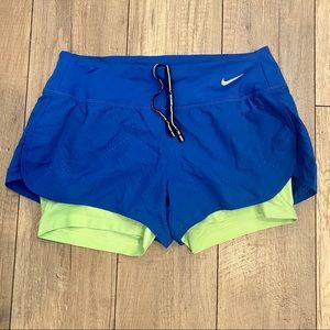 Nike Dri Fit Layered Running Shorts Size S